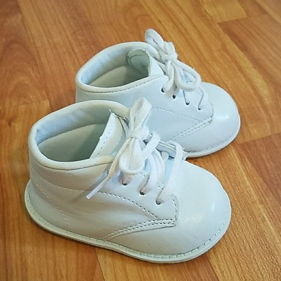Teeny Toes White High Top Baby Shoes